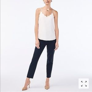 New J crew Slim cropped Ruby pant in stretch twill